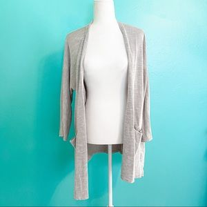 Donni Anthropologie Gray Oversized Cardigan Size L